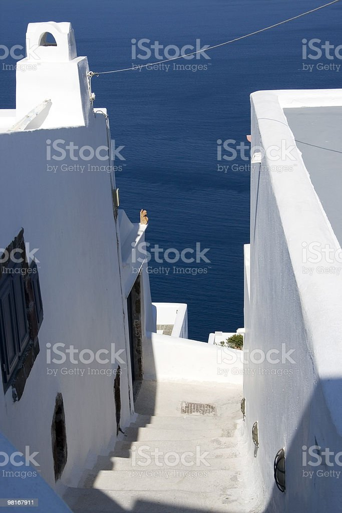 Steps to the Ocean royalty-free stock photo