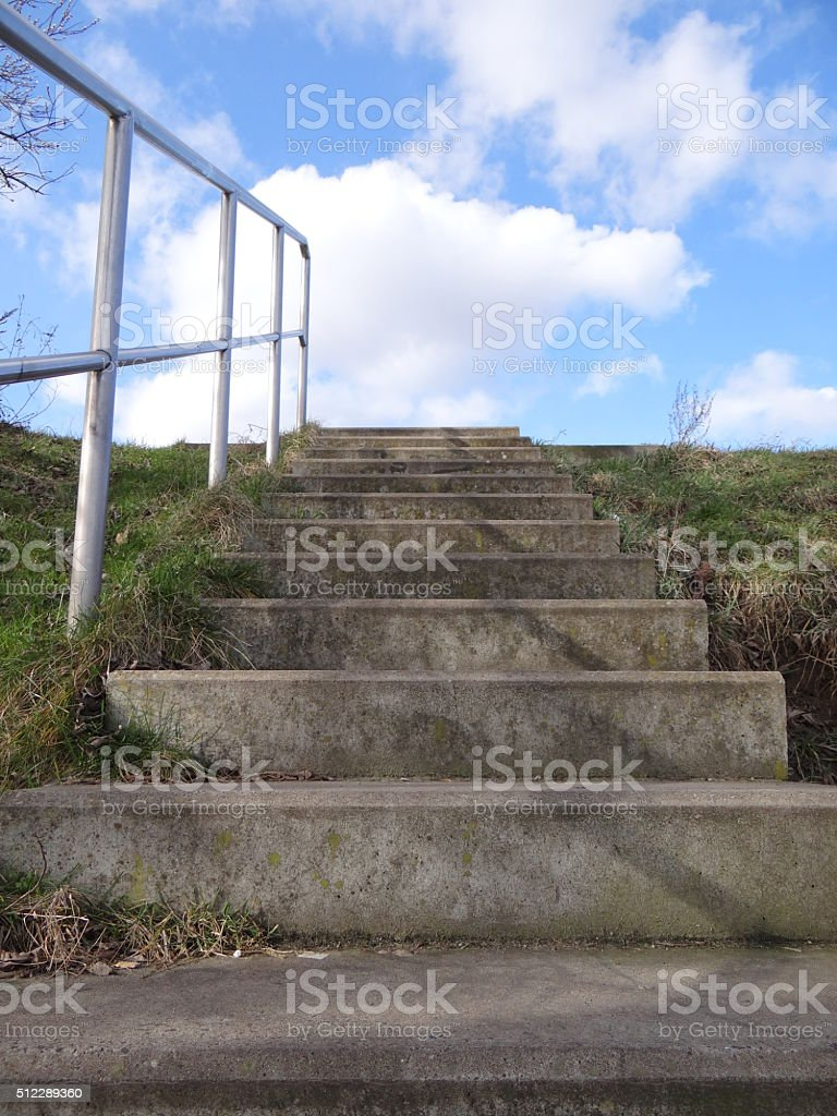 Steps to the sky stock photo