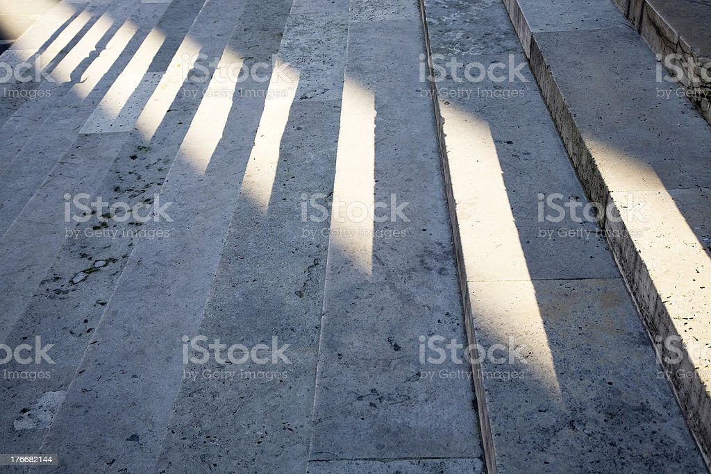 Steps with the shade of sunlight royalty-free stock photo