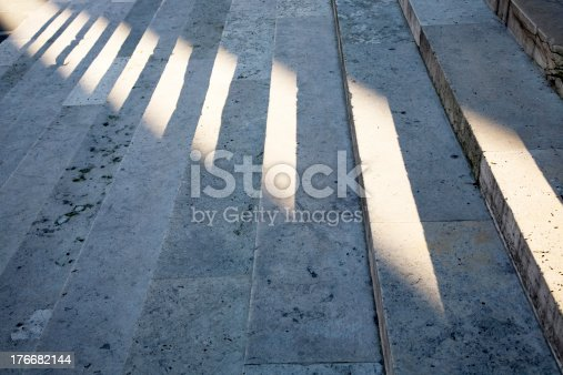Steps With The Shade Of Sunlight Stock Photo & More Pictures of Abstract