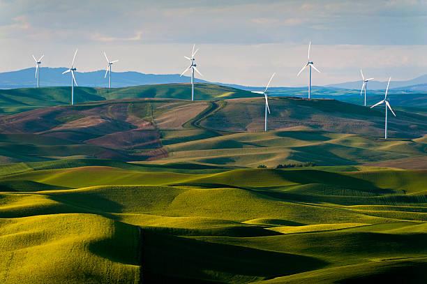 Steptoe Butte Wind Turbines stock photo