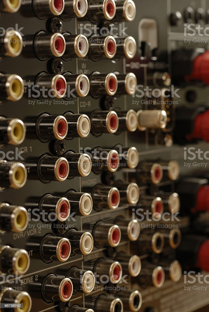 Stereo Amplifier royalty-free stock photo