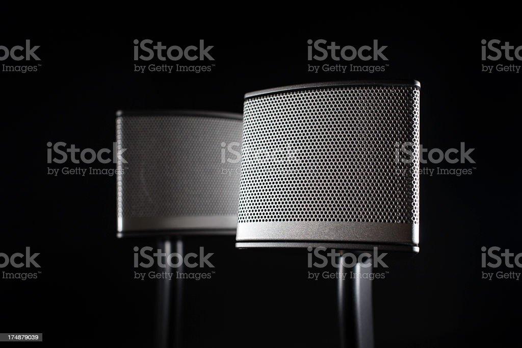 stereo loudspeakers royalty-free stock photo