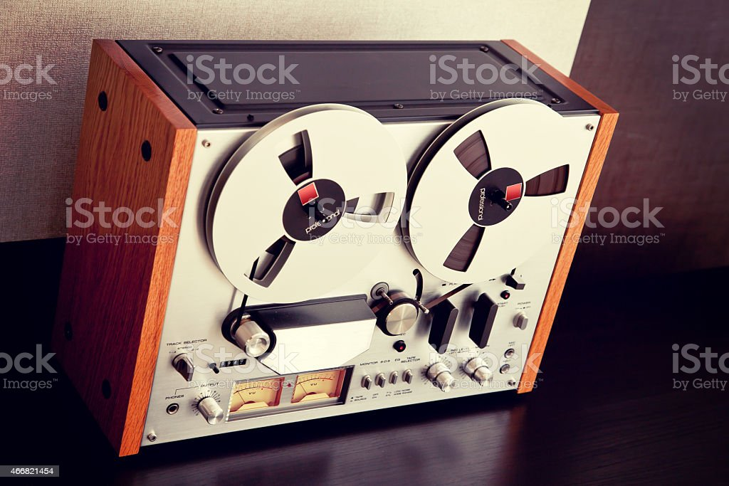 Stereo Open Reel Tape Deck Recorder Vintage stock photo