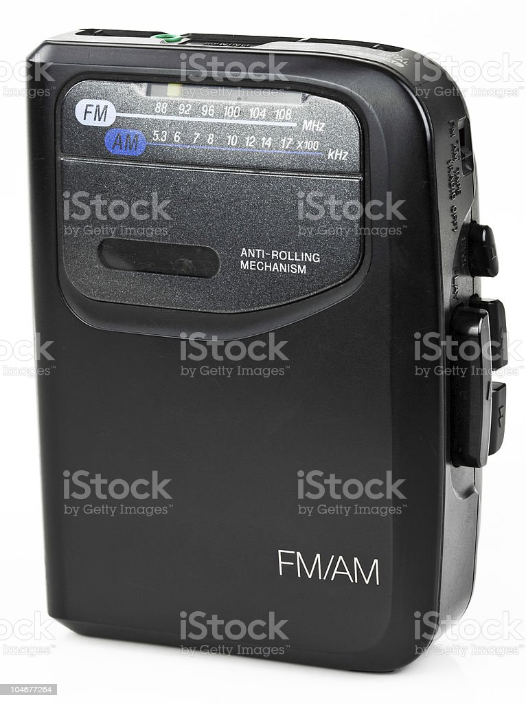 Stereo Portable Radio Cassette Audio Music Player stock photo