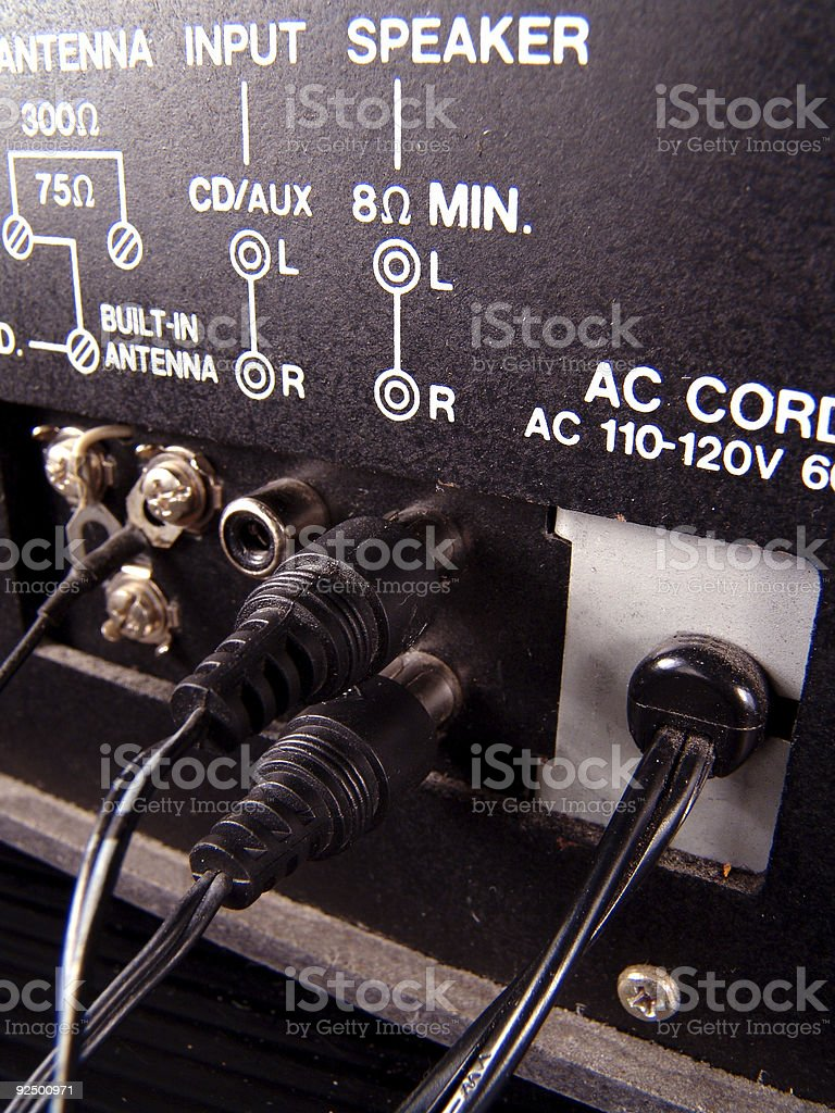 Stereo Speaker Connectors royalty-free stock photo