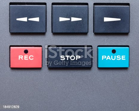 istock Stereo Tape Recorder (detail) 184912829