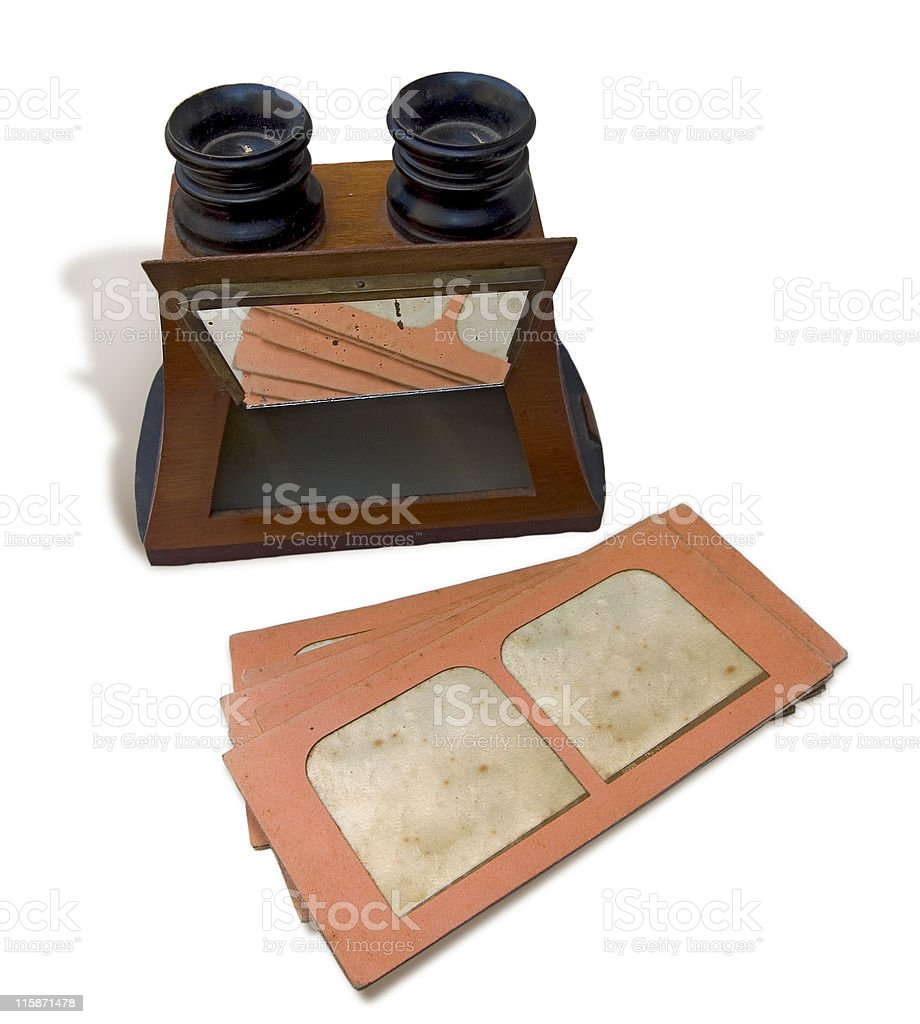 Stereoscope Thirties - clipping path royalty-free stock photo