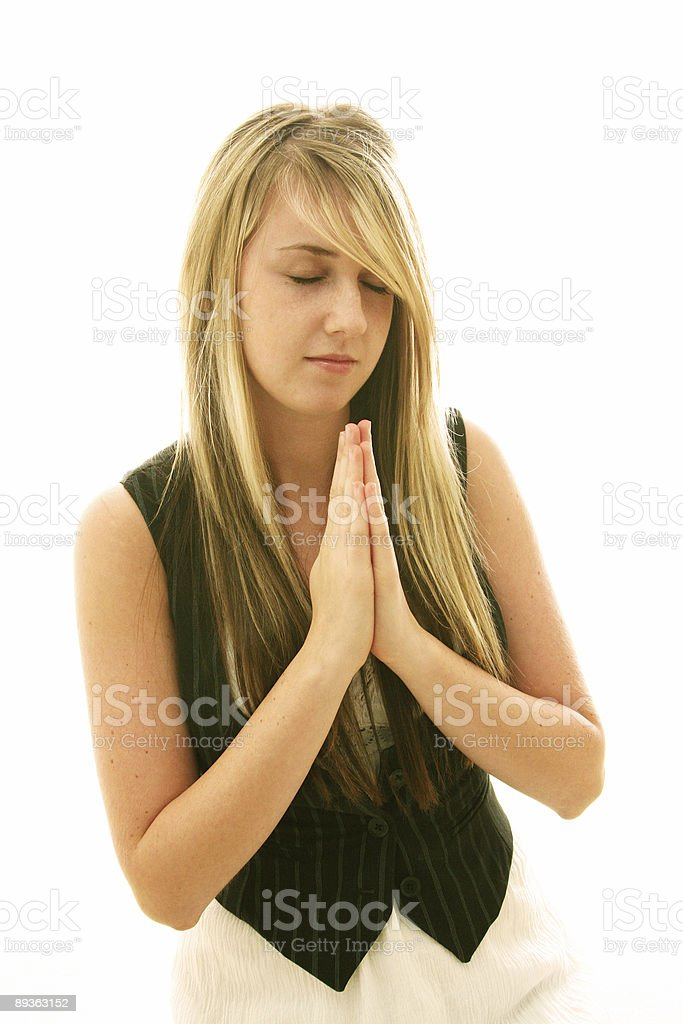 Stereotypical Prayer Pose royalty-free stock photo