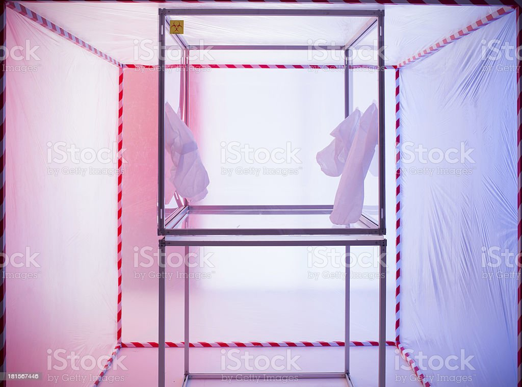 sterile chamber in containment tent royalty-free stock photo