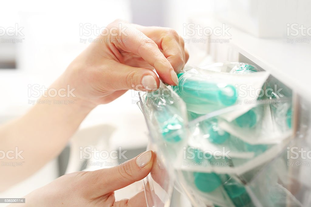 sterile syringe stock photo