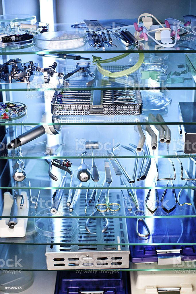 Sterilized dental equipement stock photo