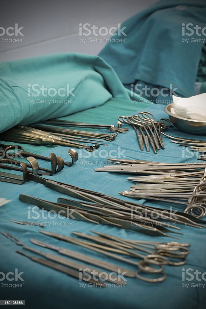 Sterilized operating tools royalty-free stock photo
