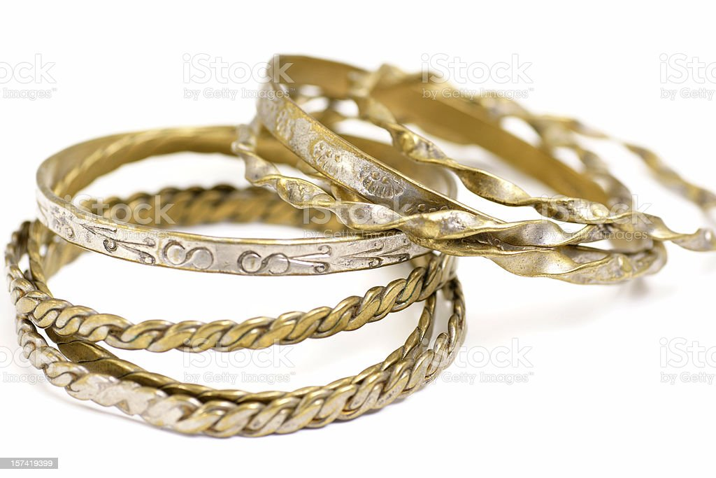 Sterling Silver Bangles royalty-free stock photo