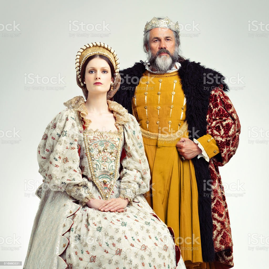 Stern and regal stock photo