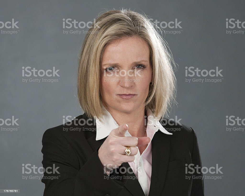 Stern Correction From Professional Woman Stock Photo