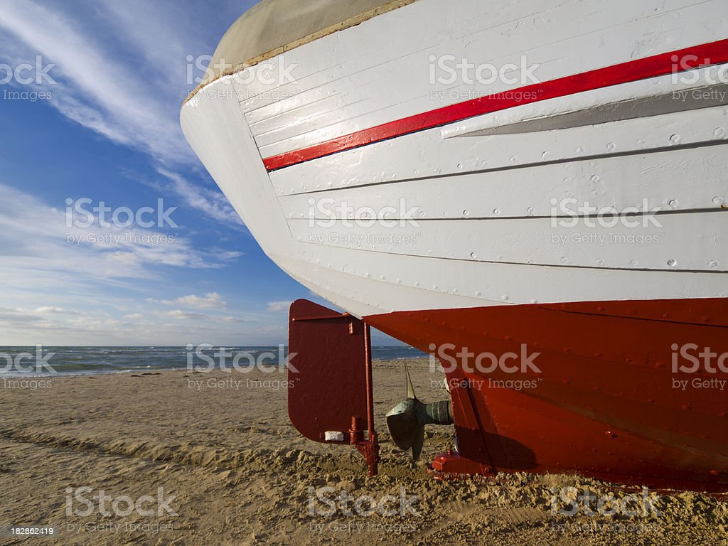 Stern of a Danish fishing boat royalty-free stock photo