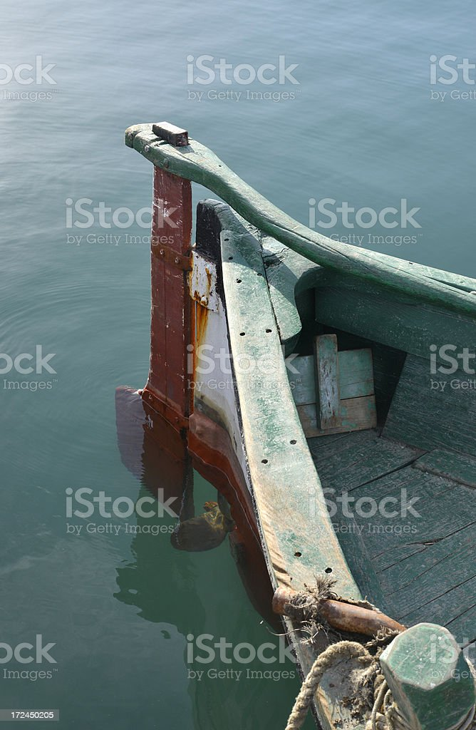 Stern of a fishing boat royalty-free stock photo