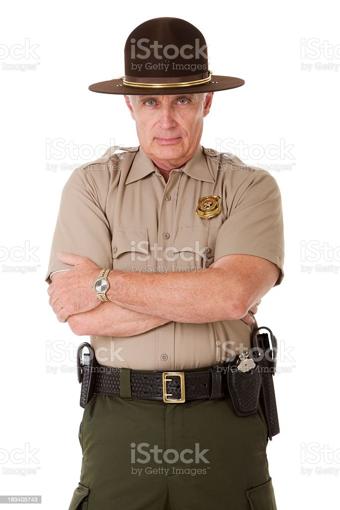 Stern Police Officer stock photo