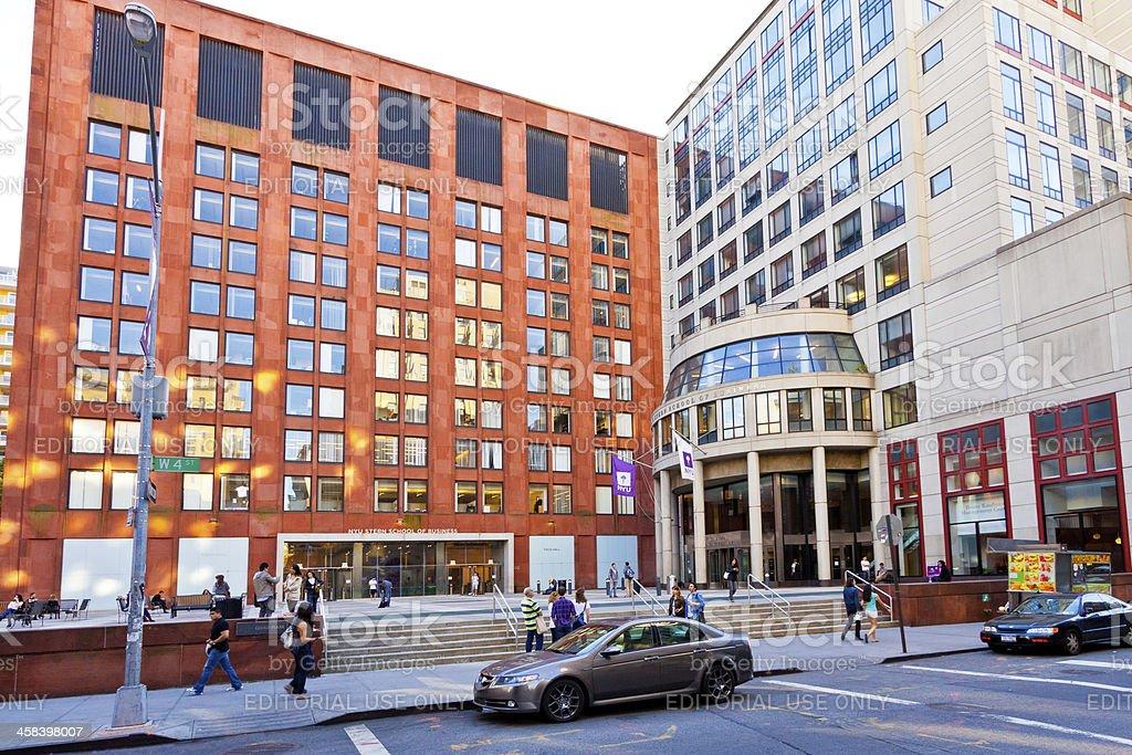 NYU Stern School of Business, Manhattan, New York. royalty-free stock photo