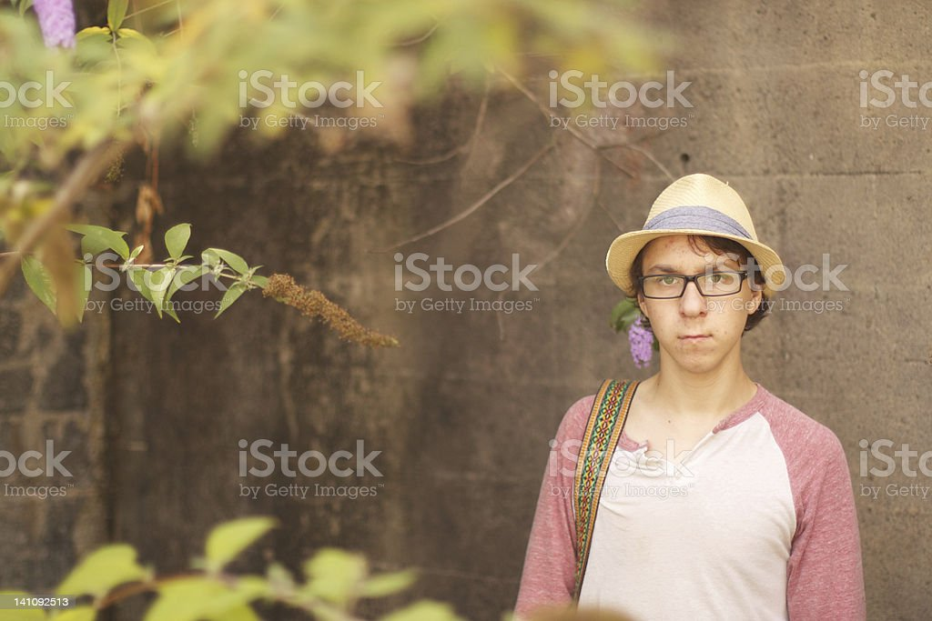 Stern Young Man stock photo