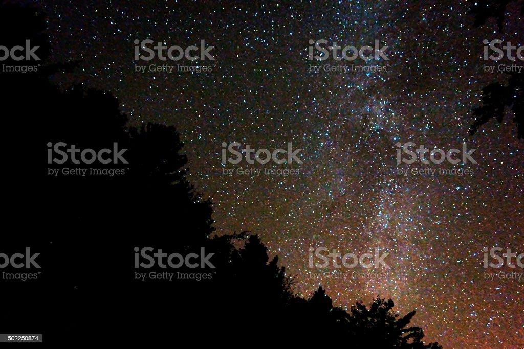 Sternennacht stock photo