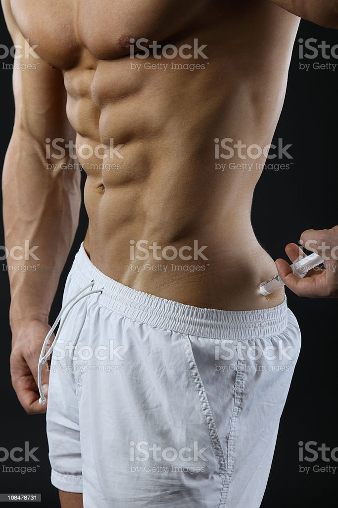 Steroid user stock photo