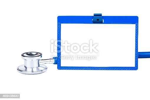 istock Stethoscope and badge 469438632