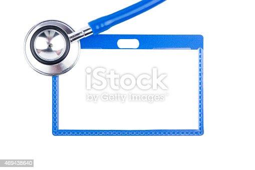istock Stethoscope and badge 469438640