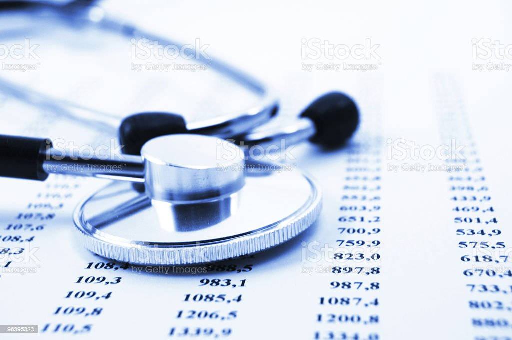 stethoscope and data - Royalty-free Color Image Stock Photo