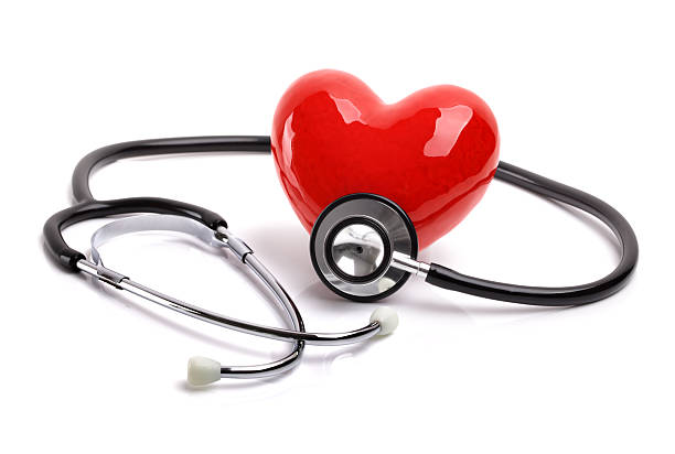 stethoscope and heart - stethoscope stock pictures, royalty-free photos & images