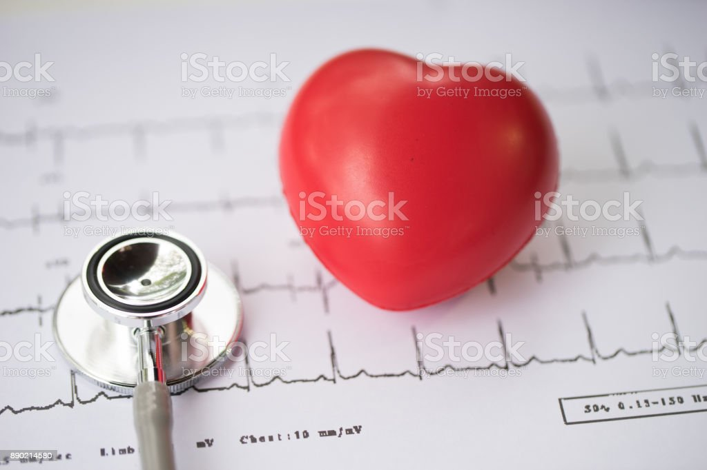 Stethoscope and heart,diagnose stock photo