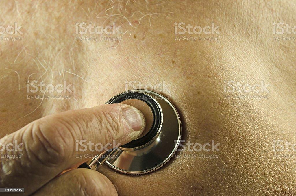 Stethoscope Checking Heart Beat royalty-free stock photo