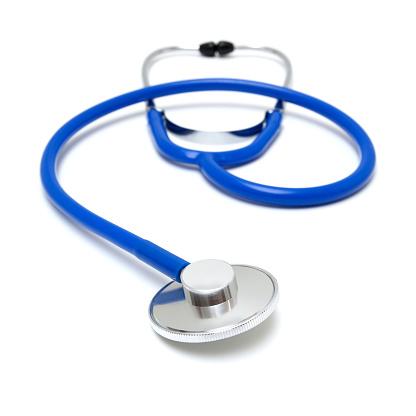 Stethoscope close-up isolated on white background