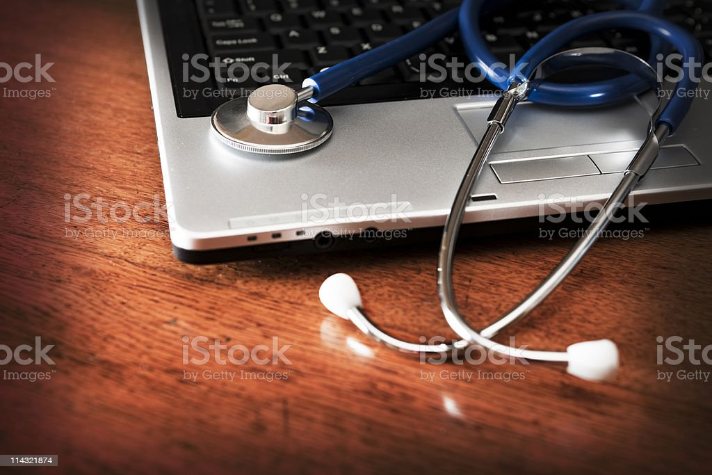 Stethoscope computer royalty-free stock photo