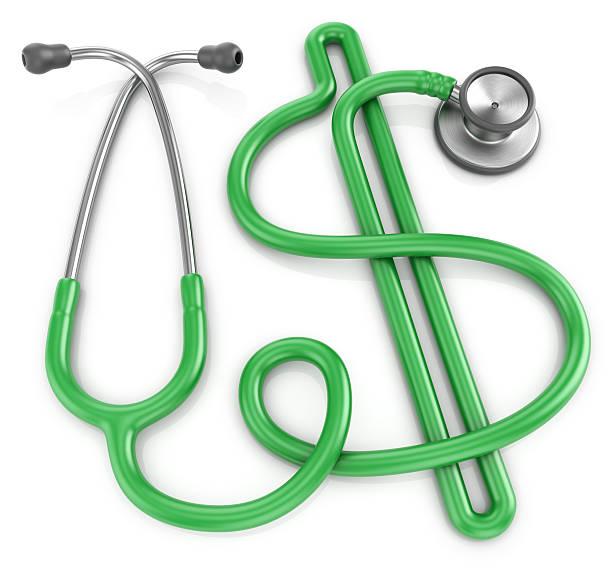Medizinische Stethoskop-dollar kosten-Konzept – Foto