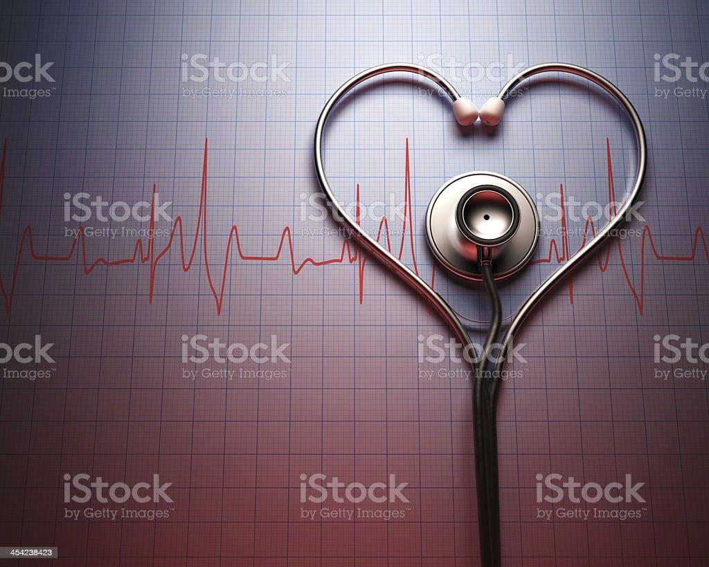 Stethoscope Heart Shape stock photo