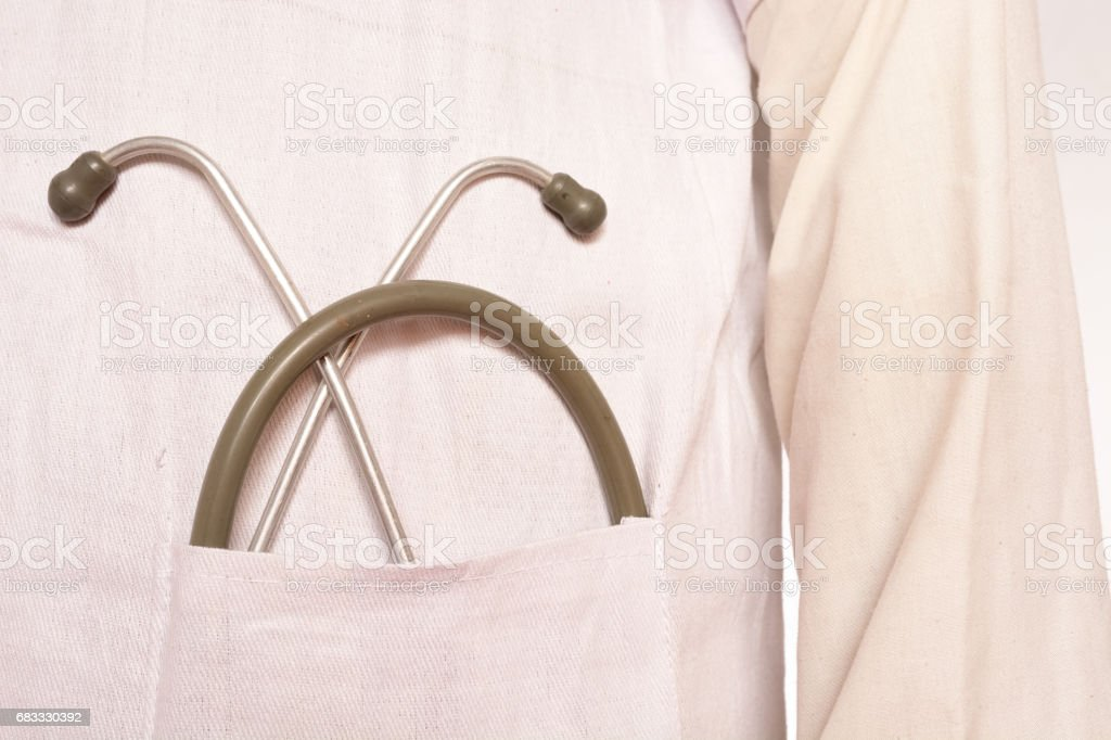 Stethoscope in pocket foto stock royalty-free