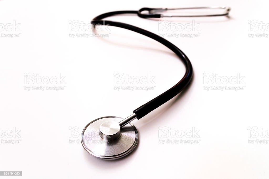 Stethoscope isolated on white background stock photo