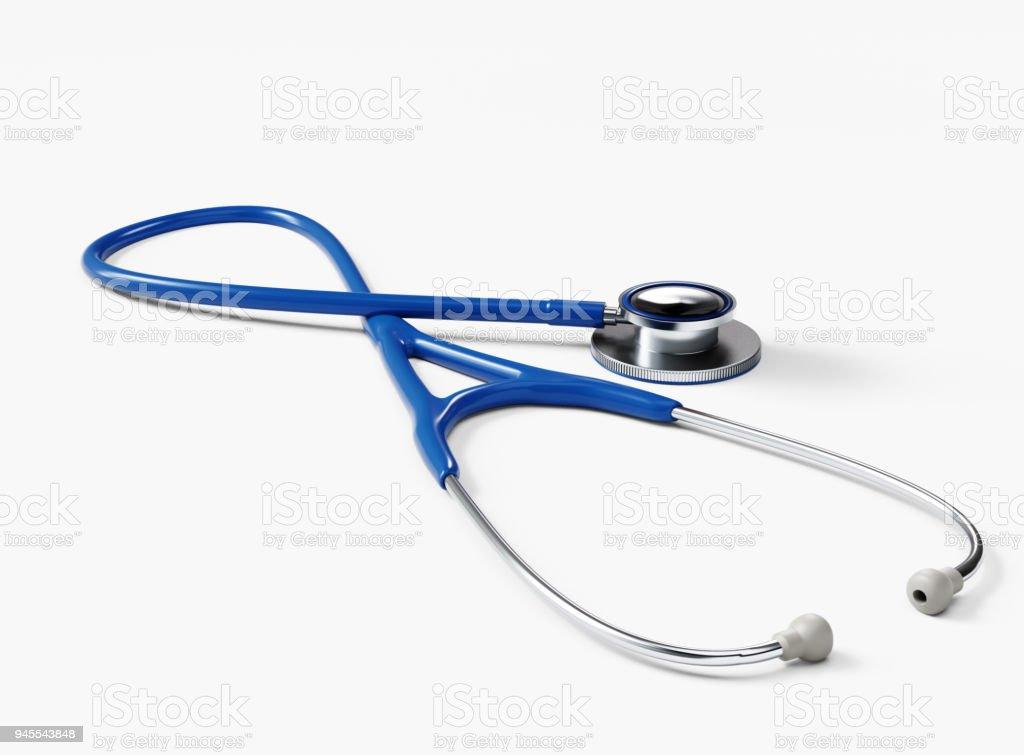 Stethoscope isolated on White stock photo