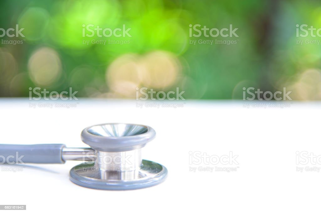stethoscope medical equipment on white. 免版稅 stock photo
