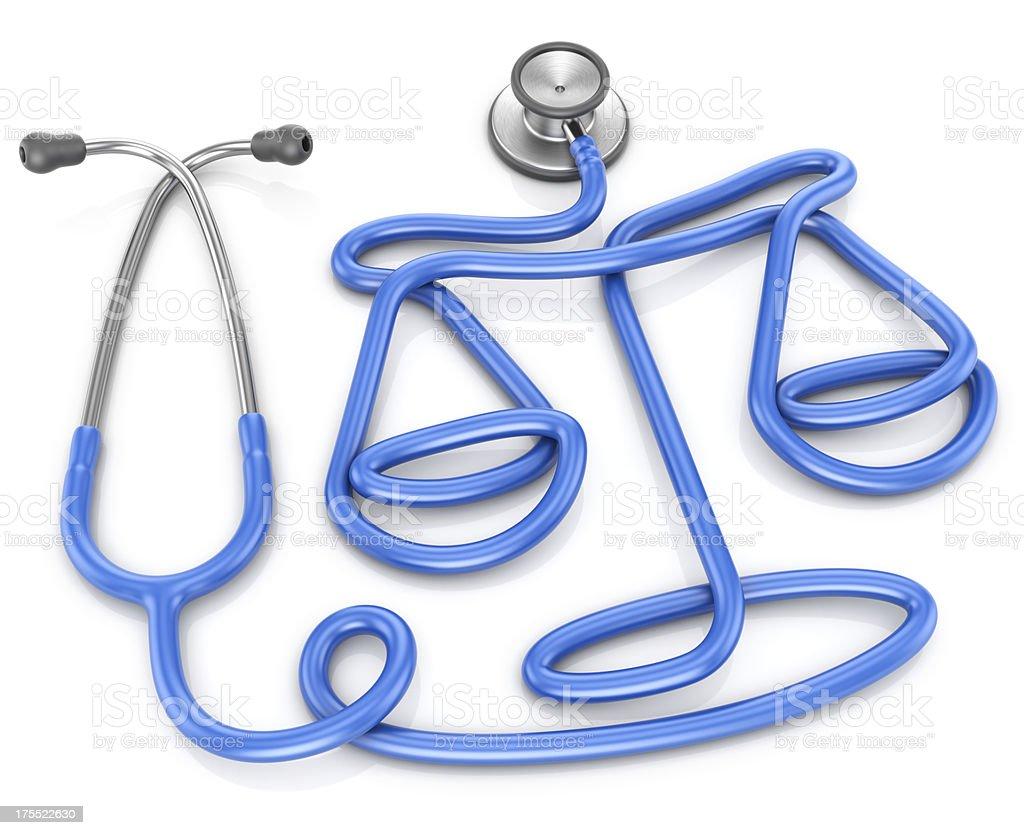 Stethoskop, medizinische Ethik oder Gesetz Konzept – Foto