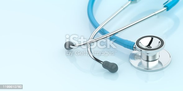 Healthcare Stethoscope Blue Background Medical Doctor