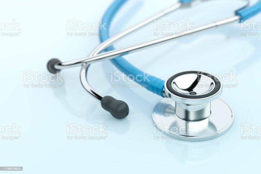 Stethoscope on Blue Background royalty-free stock photo