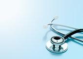 istock Stethoscope on Blue Background 866772230