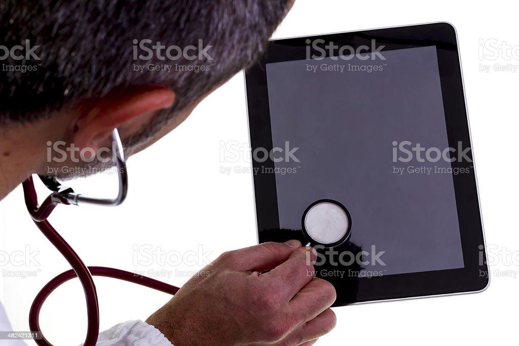 Stethoscope on Digital Tablet royalty-free stock photo