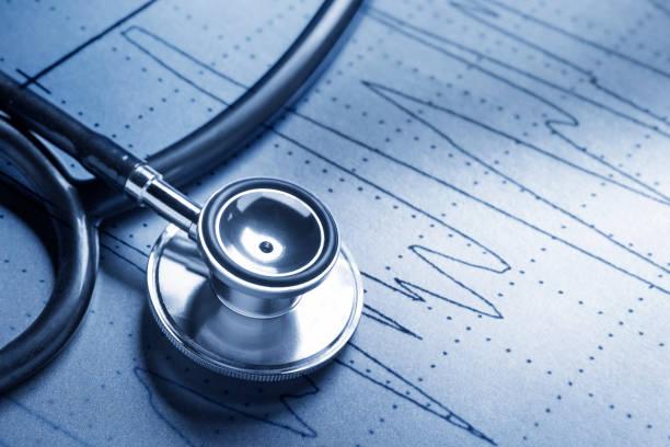 Stethoskop Zum EKG-Druck – Foto