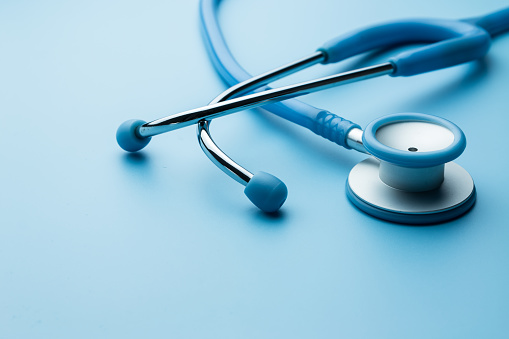 istock Stethoscope on the table 894125638