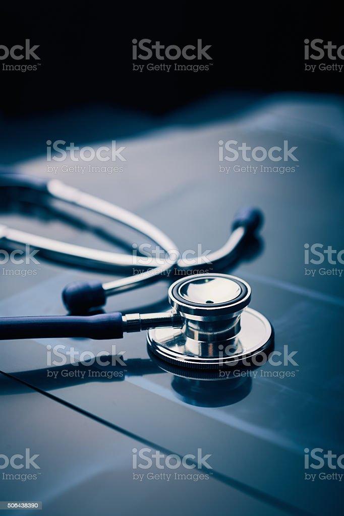 Stethoskop auf X-ray – Foto