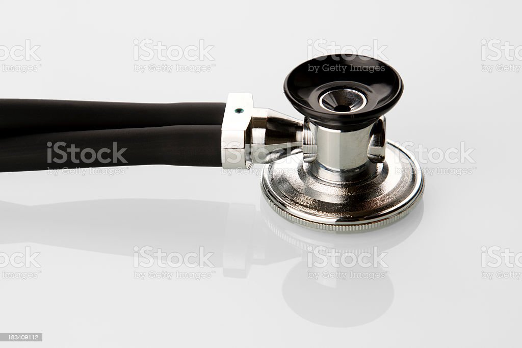 Stethoscope on White Background royalty-free stock photo